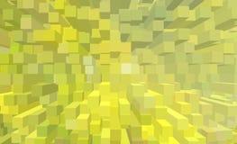 Illustrazione di colori caldi di astrazione di estate di un'estrusione 3D Fotografie Stock Libere da Diritti