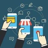 Illustrazione di commercio di Digital Acquisto in linea Fotografia Stock Libera da Diritti