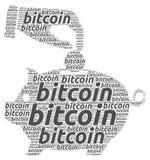 Illustrazione di concetto di Bitcoin Fotografia Stock Libera da Diritti