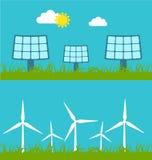 Illustrazione di concetto con l'icona di energia verde Immagine Stock Libera da Diritti