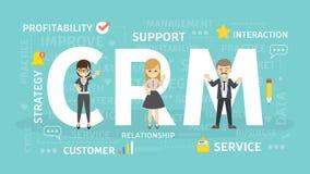 Illustrazione di concetto di Crm royalty illustrazione gratis