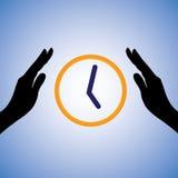 Illustrazione di concetto del risparmio/del tempo di conservazione Fotografia Stock Libera da Diritti