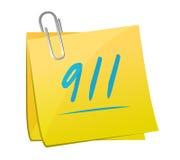 illustrazione di concetto del segno di 911 appunto Fotografia Stock Libera da Diritti