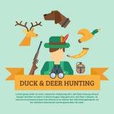 Illustrazione di concetto di caccia Immagini Stock Libere da Diritti