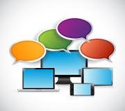 Illustrazione di concetto di comunicazione di elettronica Immagine Stock Libera da Diritti