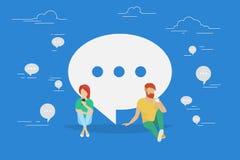 Illustrazione di concetto di conversazione di chiacchierata illustrazione vettoriale