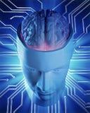 Illustrazione di concetto di intelligenza artificiale Fotografie Stock Libere da Diritti