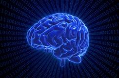 Illustrazione di concetto di intelligenza artificiale Immagini Stock Libere da Diritti