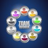 Illustrazione di concetto di lavoro di squadra di diversità. la gente Fotografia Stock Libera da Diritti