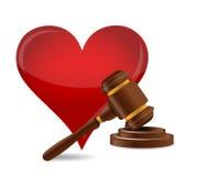Illustrazione di concetto di matrimonio di Gavel Fotografia Stock Libera da Diritti