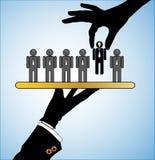 Illustrazione di concetto di migliore scelta nella selezione la gente o dei candidati migliori royalty illustrazione gratis