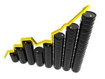 Illustrazione di concetto di prezzi 3d del barilotto Fotografia Stock Libera da Diritti