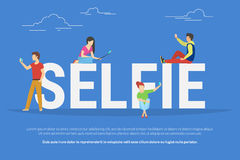 Illustrazione di concetto di Selfie illustrazione di stock
