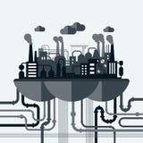 Illustrazione di concetto di vettore di inquinamento della natura Fotografia Stock