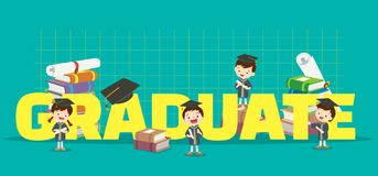 Illustrazione di concetto di graduazione royalty illustrazione gratis