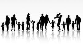 Illustrazione di concetto 'nucleo familiare' illustrazione di stock