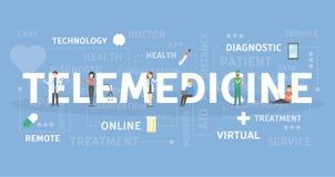 Illustrazione di concetto di telemedicina illustrazione vettoriale