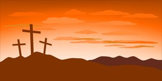 Illustrazione di concetto di venerdì santo illustrazione vettoriale