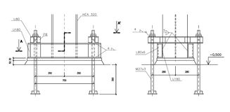 Illustrazione di costruzione, ancoraggio d'acciaio della colonna Immagine Stock Libera da Diritti