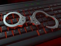 Illustrazione di crimine del Internet Fotografie Stock Libere da Diritti