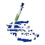 Illustrazione di crisi economica della Grecia Fotografia Stock
