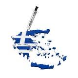 Illustrazione di crisi economica della Grecia Immagine Stock Libera da Diritti