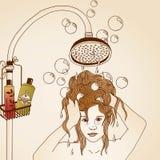 Illustrazione di cura di capelli Fotografia Stock Libera da Diritti