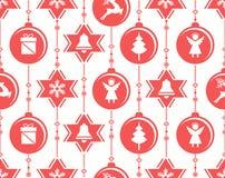 Illustrazione di decorazione-vettore delle bagattelle di Natale fotografia stock