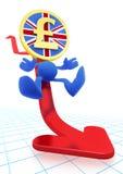 Illustrazione di di sterlina BRITANNICO di caduta illustrazione di stock