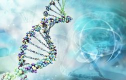 Illustrazione di Digitahi di un DNA illustrazione di stock