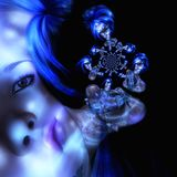 Illustrazione di Digital 3D di una donna di fantasia Fotografie Stock
