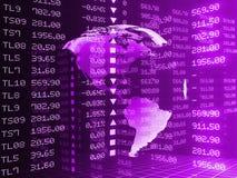 Illustrazione di Digital del grafico del mercato azionario Immagini Stock