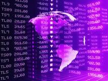 Illustrazione di Digital del grafico del mercato azionario, viola colorata Immagini Stock