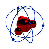 Illustrazione di Digital dell'atomo Immagine Stock Libera da Diritti