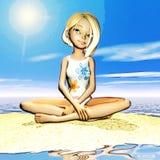 Illustrazione di Digital di Toon Girl illustrazione di stock