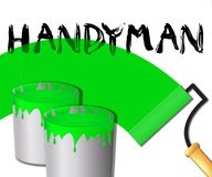 Illustrazione di Displays Home Repairman 3d del tuttofare della Camera royalty illustrazione gratis