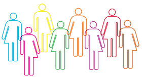 Illustrazione di diversità di genere immagine stock libera da diritti
