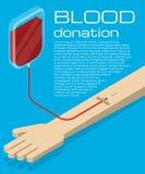 Illustrazione di donazione di sangue Fotografia Stock Libera da Diritti