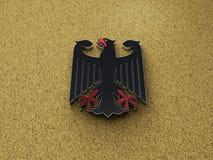 Illustrazione di Eagle 3D del tedesco del Deutschland immagini stock