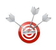 Illustrazione di efficienza di sicurezza di qualità dell'obiettivo illustrazione di stock