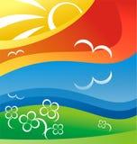 Illustrazione di estate Fotografia Stock Libera da Diritti