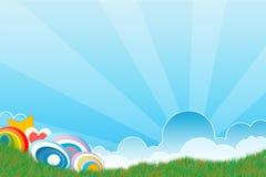 Illustrazione di estate astratta Fotografia Stock