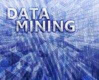 Illustrazione di estrazione mineraria di dati Immagine Stock Libera da Diritti