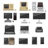 Illustrazione di evoluzione di vettore del computer Fotografia Stock Libera da Diritti