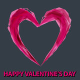 Illustrazione di fondo romantico con cuore Immagini Stock Libere da Diritti