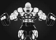Illustrazione di forte gorilla Fotografie Stock Libere da Diritti