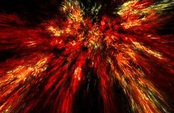 Illustrazione di frattale di combustione Fotografie Stock Libere da Diritti