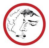 Illustrazione di fumo di vettore dell'uomo Fotografie Stock