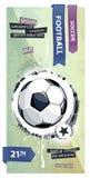 Illustrazione di gioco del calcio di Grunge. royalty illustrazione gratis