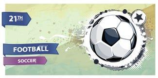 Illustrazione di gioco del calcio di Grunge. illustrazione di stock